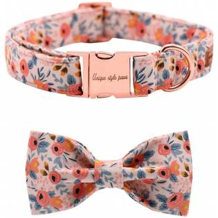 Unique style paws Bow tie Dog Collar