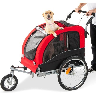 Best Choice Products 2-in-1 Pet Stroller and Trailer