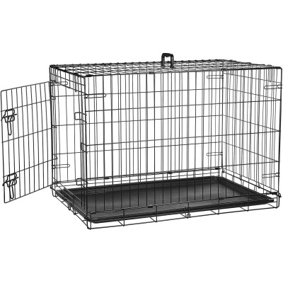 Double door crate for medium-sized dogs