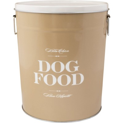 Harry Barker Taupe Bon Chien Dog Food Container
