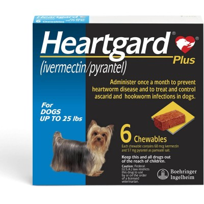 Heartgard Plus up to 25 lbs