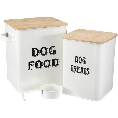 Pethiy Dog Food and Treats Storage tin Containers