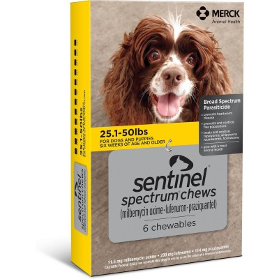 Sentinel Spectrum for dogs 25 - 50 lbs