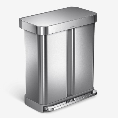 Simplehuman 58 Liter Hands-Free Dual Compartment Step Trash Can