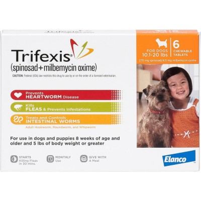Trifexis for dogs 10,1 - 20 lbs