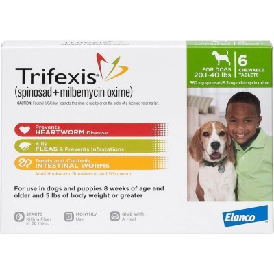 Trifexis for dogs 20,1 - 40 lbs