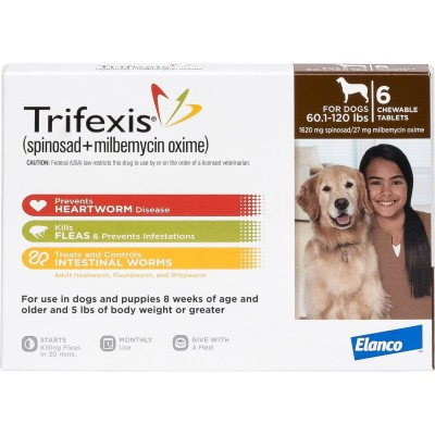 Trifexis for dogs 60,1 - 120 lbs