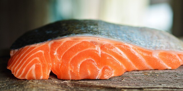 salmon on table